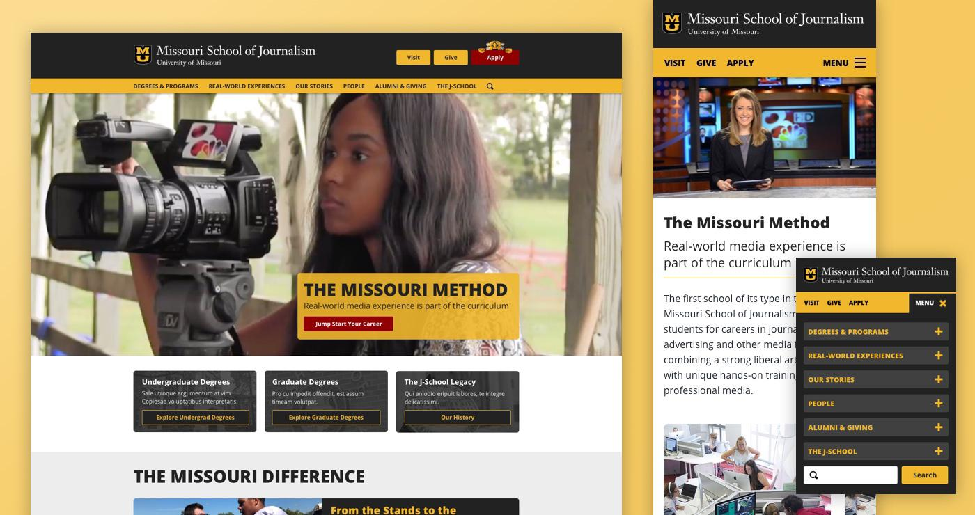 Missouri School of Journalism screenshot